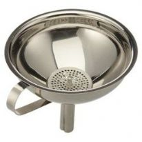 S30 Stainless Steel Funnel 13cm With Strainer